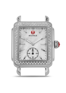MICHELE Deco Mid 16 Diamond Stainless Steel Watch Head, 29 x 31mm