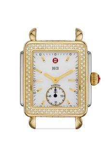MICHELE Deco Mid 16 Diamond Two Tone Watch Head, 29 x 31mm