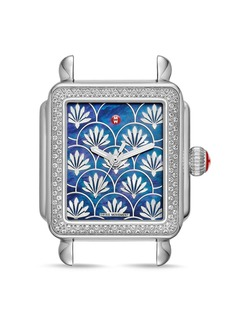 MICHELE Deco Fleur Diamond Watch Head, 33mm x 35mm