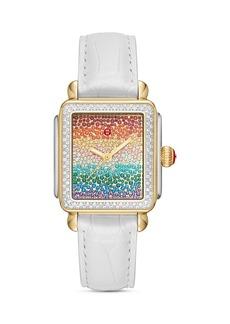 MICHELE Deco Full Rainbow Diamond Watch, 33mm x 35mm