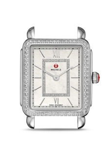 MICHELE Deco II Mid Diamond Dial Watch Head, 26mm x 27.5mm