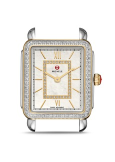 MICHELE Deco II Mid Two-Tone Diamond Dial Watch Head, 26mm x 27.5mm