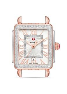 MICHELE Deco Madison Mid Two-Tone Rose Gold Diamond Watch Head, 29mm x 31mm