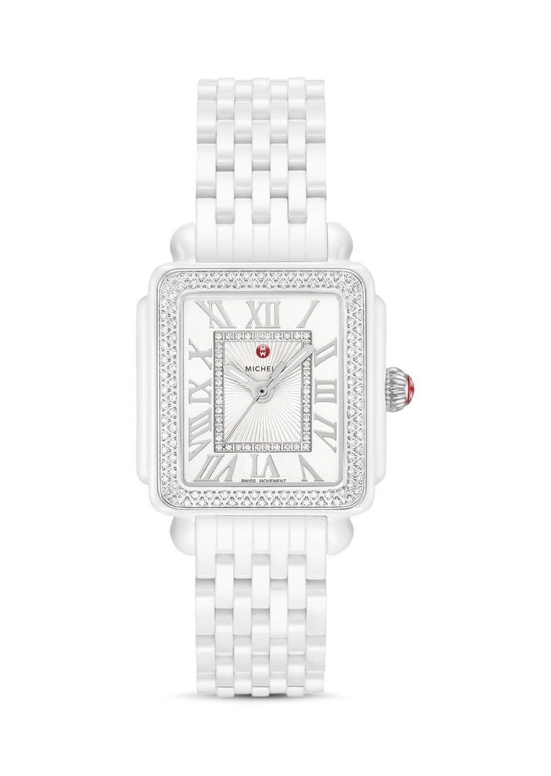 MICHELE Deco Madison Mid Watch, 30mm x 41mm