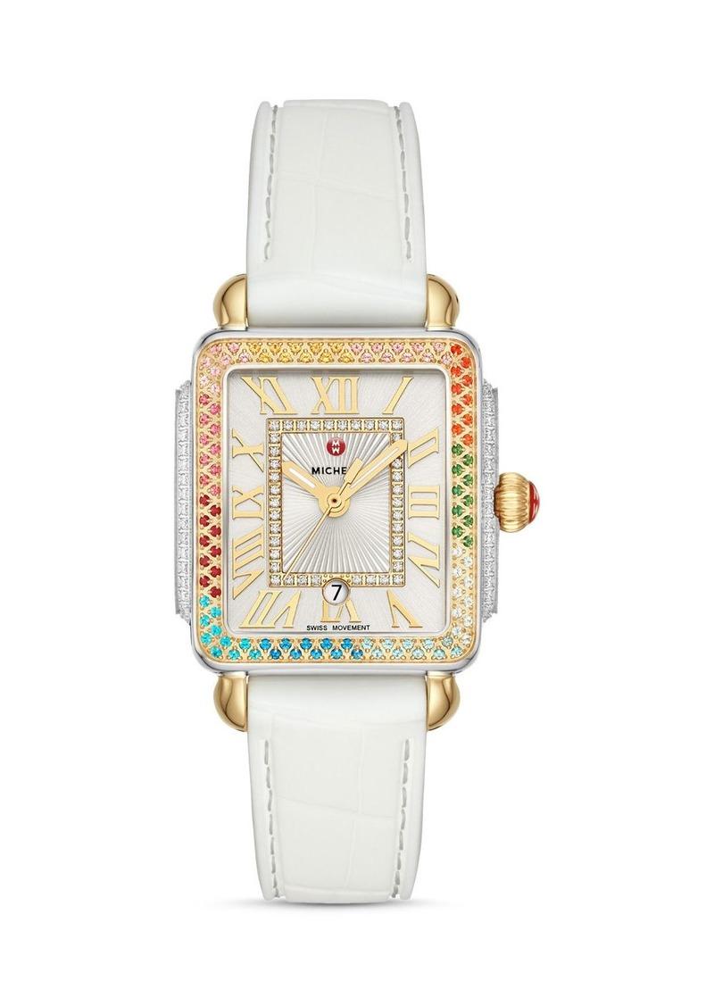 MICHELE Deco Mid Rainbow Diamond Watch, 29mm x 31mm