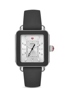 MICHELE Deco Sport Black Bezel Watch, 34mm x 36mm