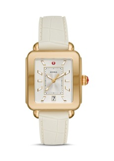 MICHELE Deco Sport Vanilla Watch, 34mm x 36mm