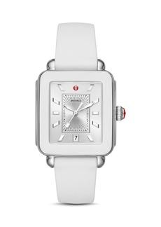 MICHELE Deco Sport White Bezel Watch, 34mm x 36mm