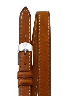 MICHELE Double Leather Strap, 12mm
