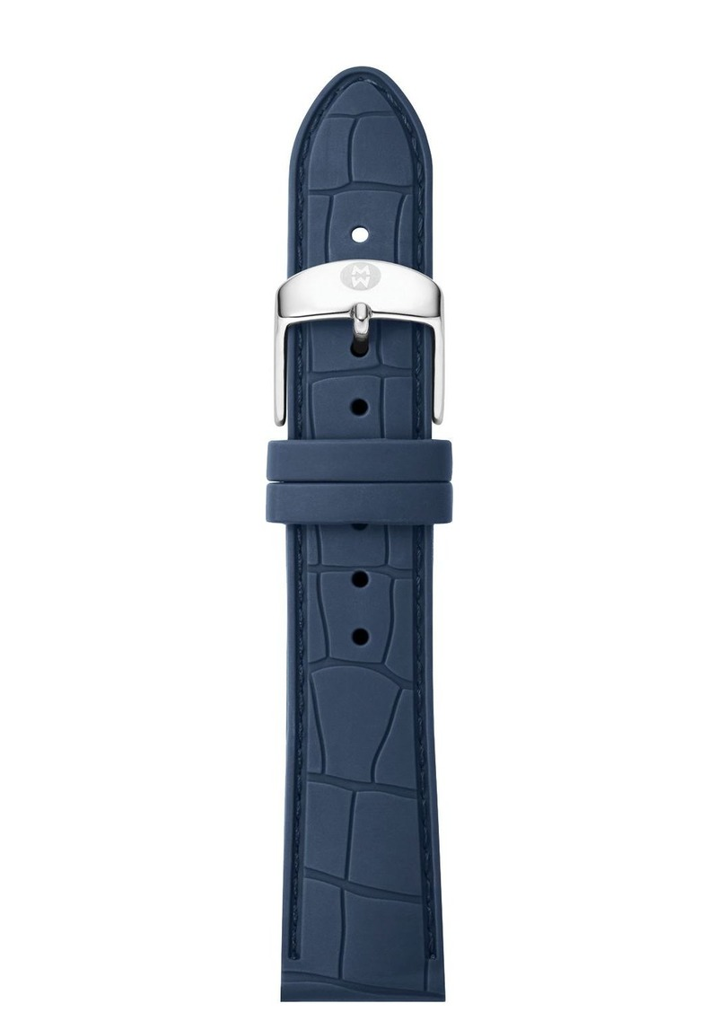 MICHELE Embossed Silicone Strap, 16-18mm
