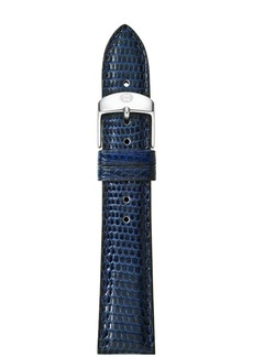 MICHELE Lizard-Embossed Leather Strap, 16-18mm