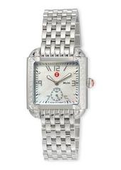 MICHELE Milou Stainless Steel Bracelet Watch with Diamonds