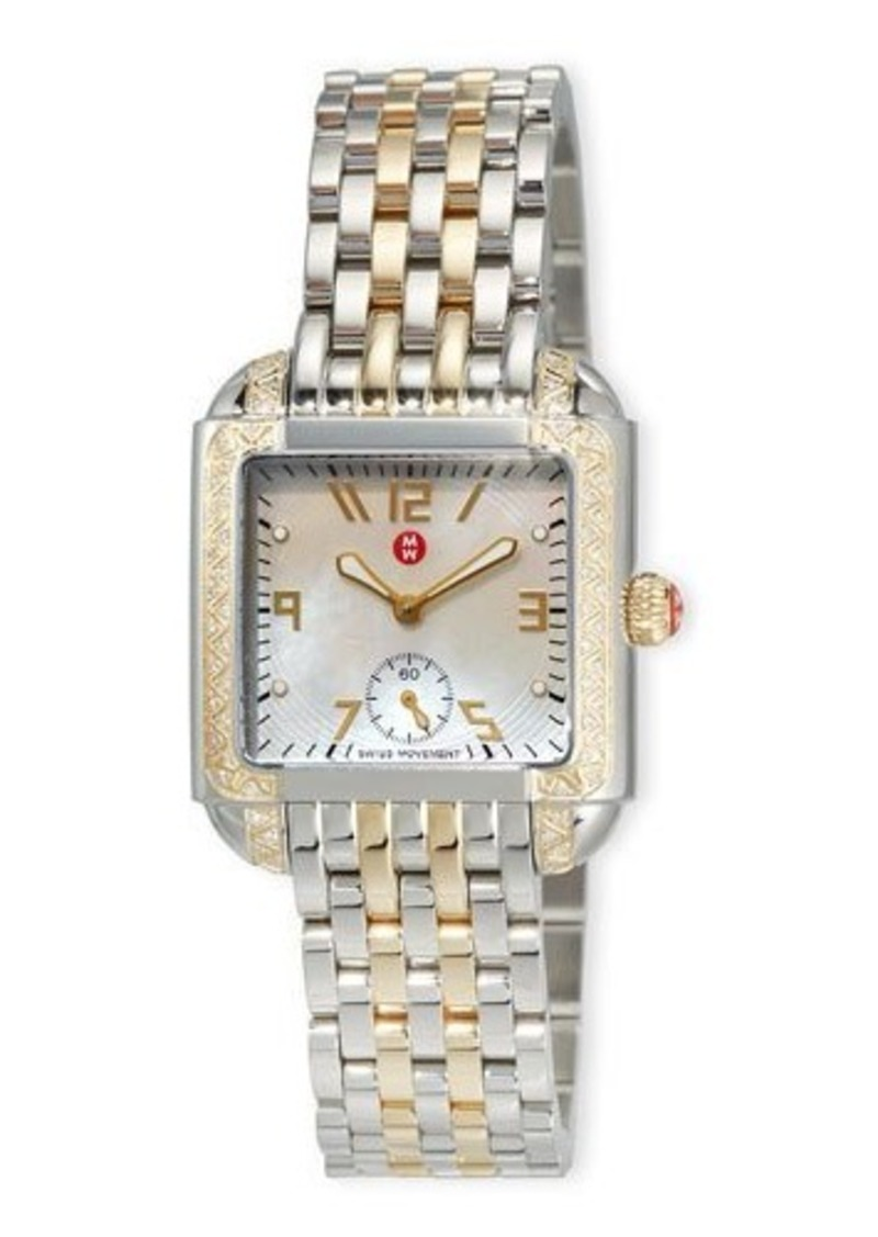 MICHELE Milou Two-Tone Diamond Bracelet Watch