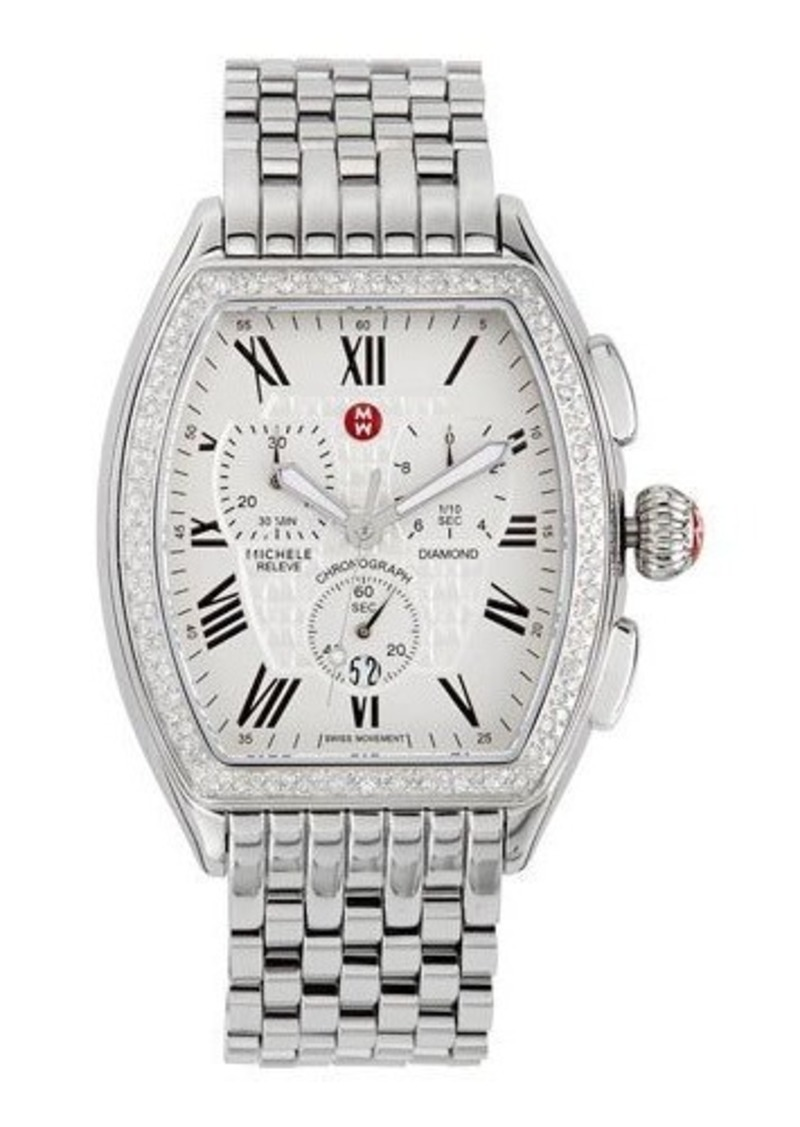 Michele Michele Releve Diamond Bracelet Chronograph Watch Jewelry