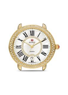 MICHELE Serein 16 Diamond & Gold Watch Head, 34 x 36mm