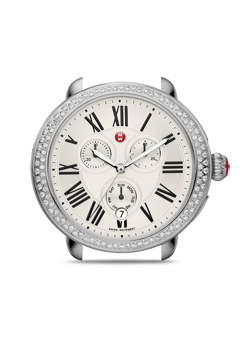 MICHELE Serein Diamond Watch Head, 40 x 38mm
