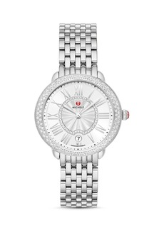 MICHELE Serein Mid Two-Tone Stainless Steel Diamond Watch, 34mm x 36mm