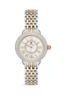 MICHELE Serein Petite Two-Tone Diamond Watch, 29mm