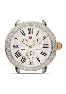 MICHELE Serein Two-Tone Diamond Watch Head, 40 x 38mm