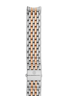 MICHELE Serein 16 Two-Tone Stainless Steel & Rose Gold 7-Link Watch Bracelet, 16mm