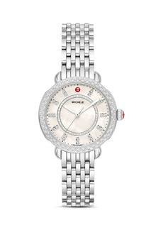 MICHELE Sidney Classic Diamond Watch, 33mm