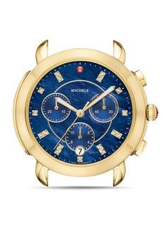MICHELE Sidney Gold Diamond Dial Watch Head, 38mm