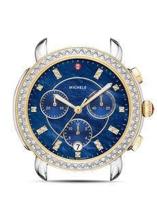 MICHELE Sidney Two-Tone Diamond Watch Head, 38mm