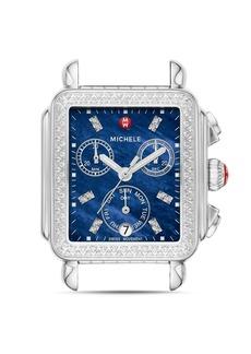 MICHELE Deco Stainless-Steel Diamond Watch Head, 33mm x 35mm