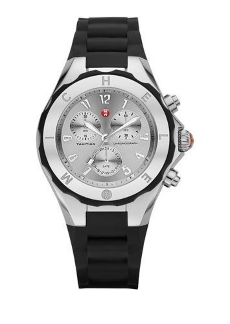 MICHELE Tahitian Jelly Bean Stainless Steel Watch