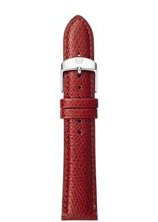 MICHELE Textured Calfskin Strap, 16-18mm
