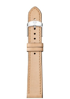 MICHELE Thin Calfskin Strap, 16-18mm