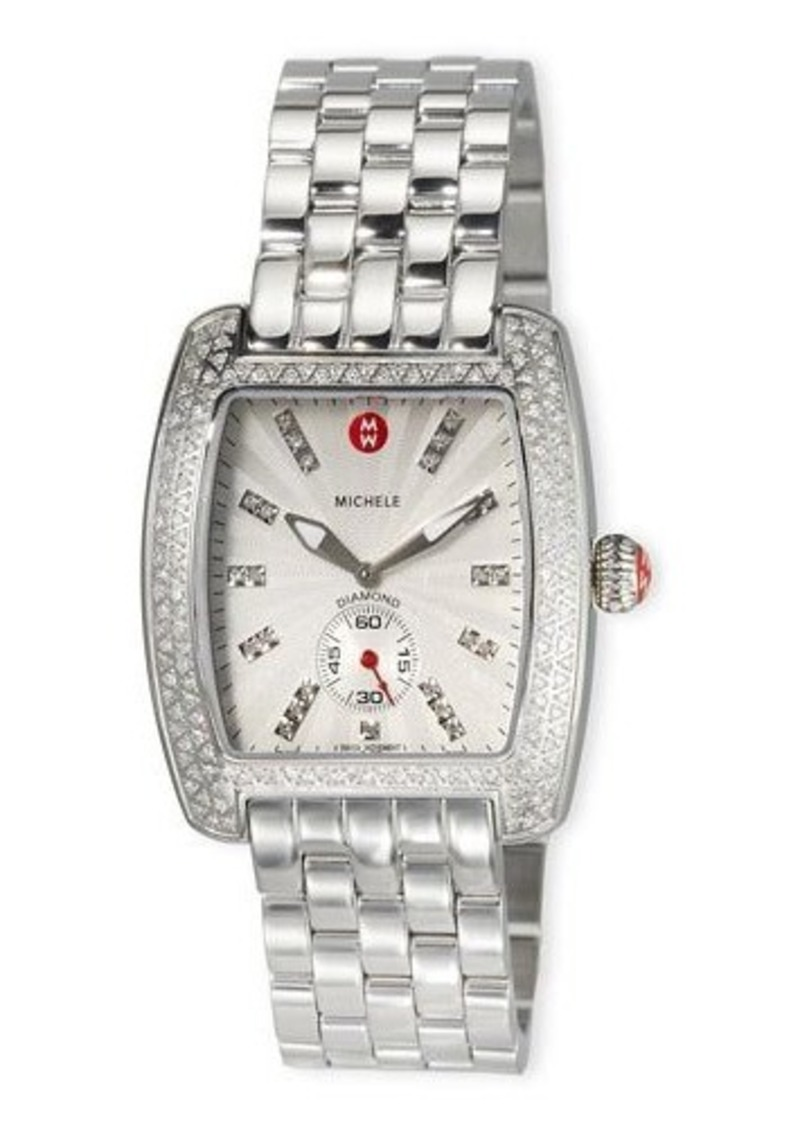 MICHELE Urban Diamond Stainless Steel Bracelet Watch