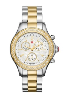 Michele Women's Jetway Diamond Watch