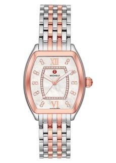 Michele Releve Diamond Dial Watch Head & Interchangeable Bracelet, 31mm x 32mm