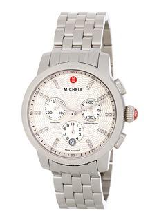 Michele Women's  'Uptown' Diamond Dial Chronograph Watch Case & Bracelet, 39mm - 0.12 ctw