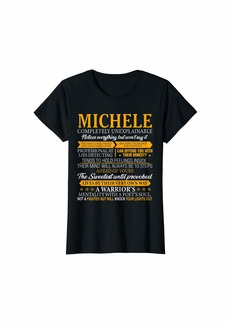 Womens MICHELE Completely Unexplainable First Name Tee T-Shirt