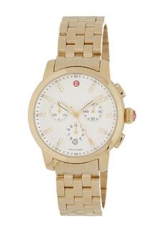 Michele Women's Uptown Diamond Dial Chronograph Bracelet Watch, 39mm - 0.12 ctw