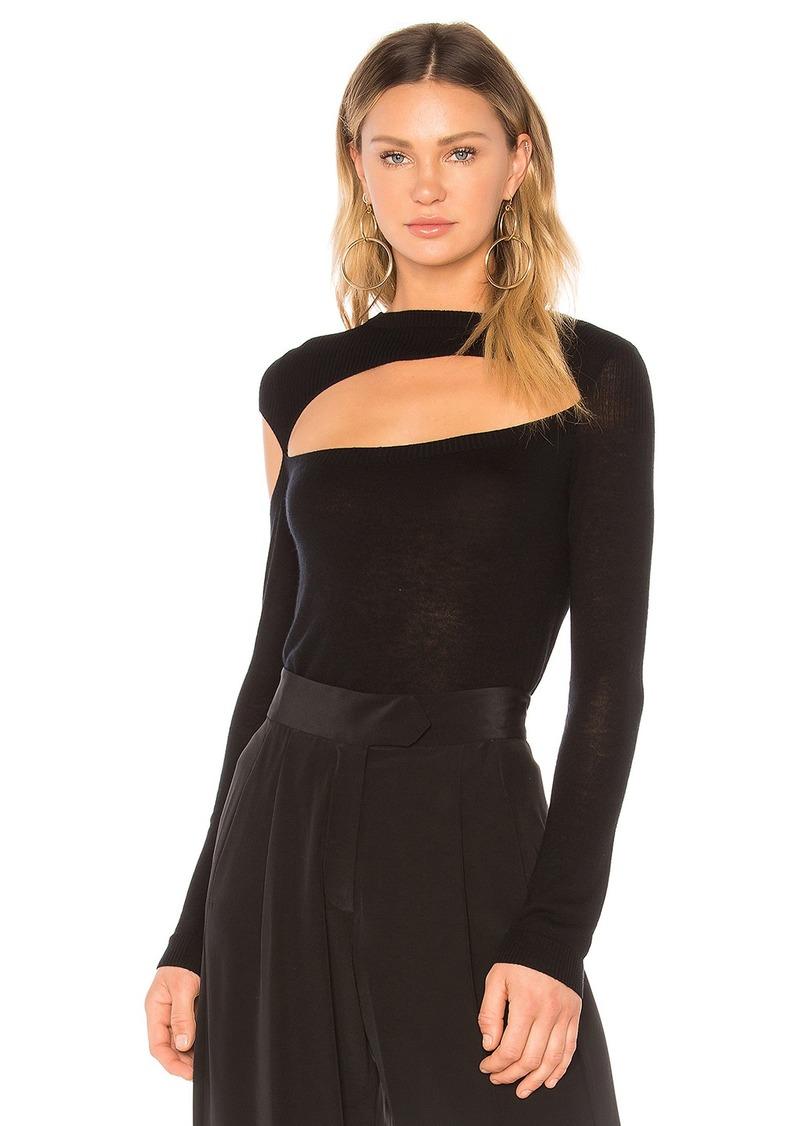 Michelle Mason Asymmetric Cut-Out Sweater