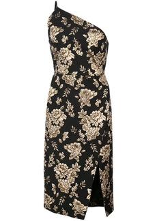 Michelle Mason asymmetric midi dress