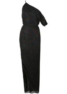 Michelle Mason asymmetric polka dot gown