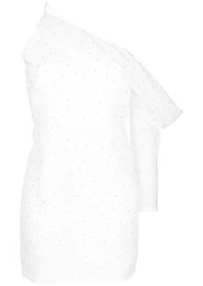 Michelle Mason asymmetric sleeve mini dress