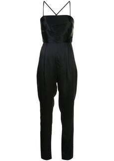 Michelle Mason banded silk jumpsuit