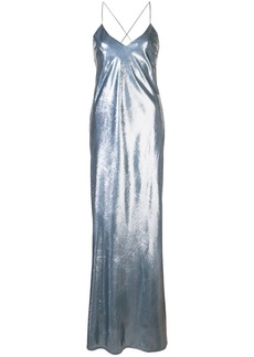 Michelle Mason bias maxi gown