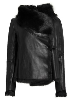 Michelle Mason Black Shearling Jacket