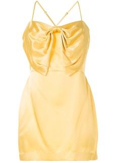 Michelle Mason bow detail cocktail dress