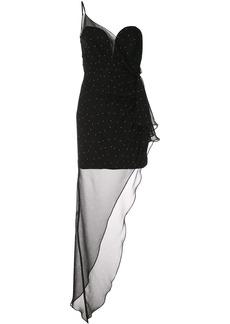 Michelle Mason bustier draped gown
