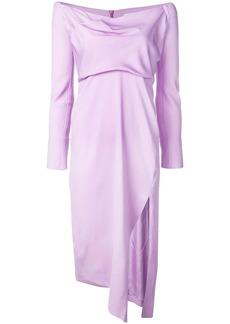 Michelle Mason cowl neck dress