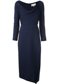 Michelle Mason cowl neck midi dress