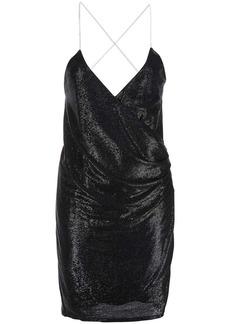 Michelle Mason crystal-strap mini dress