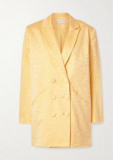 Michelle Mason Double-breasted Cotton-blend Jacquard Mini Dress